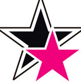 Glamour stars. Illustration of the glamour black and pink stars on the white background Royalty Free Stock Photos