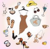 Glamour summer lifestyle Stock Image
