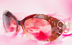 Glamour sunglasses Stock Photos