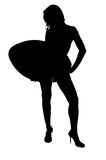 Glamour Surfer Silhouette Stock Image