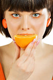 Glamour teste orange Royalty Free Stock Image