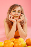 Glamour teste orange Royalty Free Stock Images