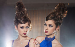Glamour twins Royalty Free Stock Photos