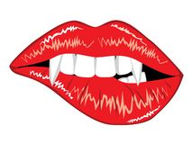 Glamour Vampire Lips Stock Photo