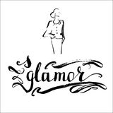 Glamour vector word. Glamour word vector letterynh Royalty Free Stock Image