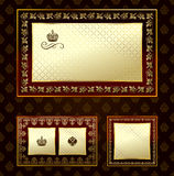 Glamour vintage gold frame decorative ornament Stock Images