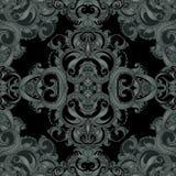 Glamour vintage ornate black frame. Vector illustration royalty free illustration