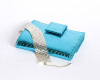 Glamour wallet with bracelet Royalty Free Stock Images