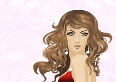The glamour woman Stock Images