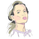 Glamour woman. Fashionable and beautiful girl for magazines Vector Illustration