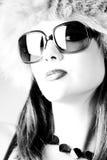 Glamour woman b/w Stock Photos
