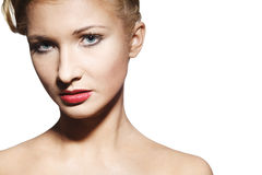 Glamour woman with brightly makeup Royalty Free Stock Photography