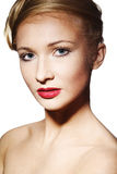 Glamour woman with brightly makeup Royalty Free Stock Photo