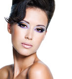 Glamour woman with eye make-up Stock Photo