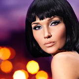 Glamour woman with a  fashion bright makeup of eyes Stock Photo
