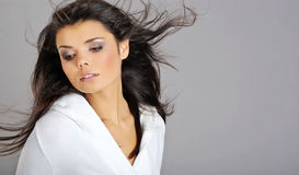 Glamour woman. hairstyle Stock Photo