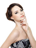 Glamour woman with make-up and manicure Royalty Free Stock Photography