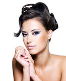 Glamour woman with modern curly hairstyle Royalty Free Stock Image