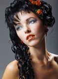 Glamour woman with modern curly hairstyle Stock Photo