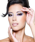 Glamour woman with modern fashion makeup Royalty Free Stock Photography