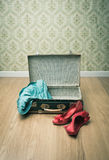 Glamour woman packing Royalty Free Stock Image