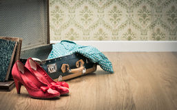 Glamour woman packing Royalty Free Stock Photo