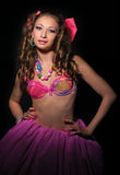Glamour woman pink Royalty Free Stock Images