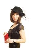 Glamour woman portrait. Wear a hat glamour woman portrait Stock Photos