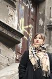 Glamour woman posing at urban scenery Royalty Free Stock Image
