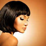 Glamour woman  with shot hairstyle Royalty Free Stock Photography
