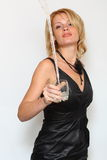 Glamour woman and water. She is glamour woman and water Royalty Free Stock Photo