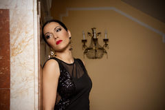 Glamour women in evening dresses Royalty Free Stock Photography