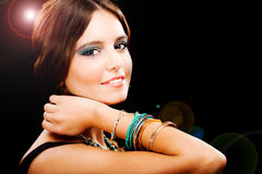 Glamour young woman fashion portrait Stock Images