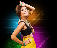 Glamour young woman fashion portrait Stock Photography