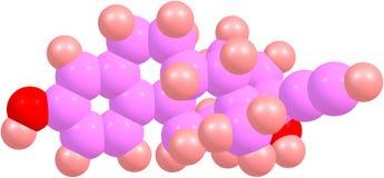 GlamourEthinyl Estradiol molekyl Royaltyfria Foton