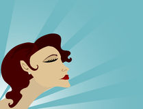 Glamourist. Glamorous woman holding her head high Vector Illustration
