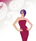 glamourkvinna Royaltyfria Bilder