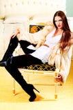 Glamourlady Royaltyfri Bild