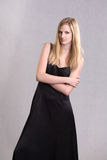 Glamouros tall young blond woman. Royalty Free Stock Photography