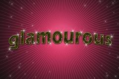 glamourous золотистое написанное слово знака Стоковая Фотография RF