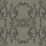 Glamourous Baroque Rococo engraved ornament pattern. Vector luxury pattern carved ornament background Royalty Free Stock Image