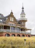 Glamourous bathing pavillon. Seen in a seaside resort named Domburg located in the dutch province of Zeeland Stock Photo