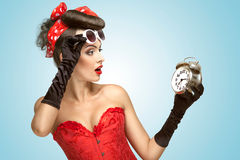 Glamourous clockwork. Royalty Free Stock Photo
