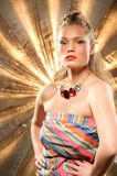 Glamourous fashion portrait Stock Images