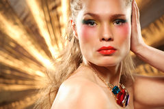 Glamourous fashion portrait Royalty Free Stock Photography
