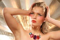 Glamourous fashion portrait Stock Photos