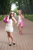 Glamourous girls Royalty Free Stock Photo