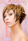 Glamourous hairstyle Stock Photos