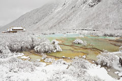 Glamourous pools at huanglong Stock Images