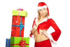 Glamourous Santa Royalty Free Stock Photos